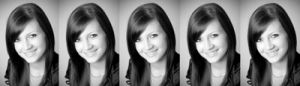 Maturitné fotky (čiernobiele foto očká)